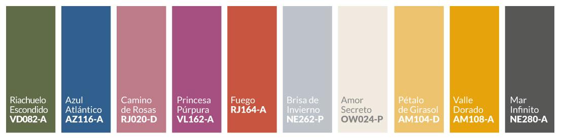 Paleta colores 2021 Consciencia Activista