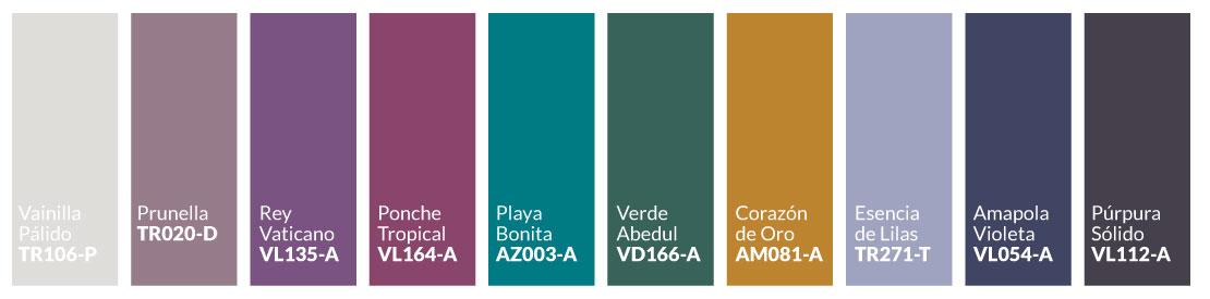 Paleta colores 2021 Esencia Romántica